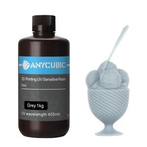 ANYCUBIC 1L Grey(Gris) Résine UV pour Imprimante 3D SLA Photon MONO X Printing