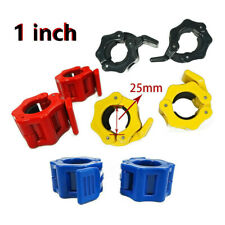 1 inch Pair Jaw Barbell Collar Muscle Clamps Bar Weight lifting -Standard Lock