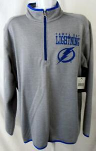 Tampa Bay Lightning Men XL Embroidered 1/4 Zip Pullover Track Jacket ATBL 43
