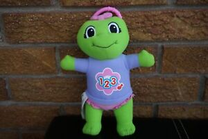 """PLUSH Leap FROG Baby Learn Along LILY Sing Song 123 Counting 8"""" Pink Green Doll"""