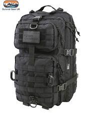 Black Hex Tac Reaper Molle 40 Litre Tactical Pack Assault Bag  Airsoft Military
