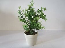 Artificial Potted Eucalyptus Plant  - 28cm - Decorative Plastic Plant in Pot