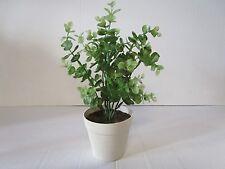Planta Artificial En Maceta De Eucalipto - 28cm-Planta de Plástico Decorativas En Maceta