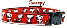 "Snoopy dog collar handmade adjustable buckle collar 5/8"" wide or leash Peanuts"