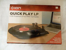 New listing Ion It21 Quick Play Lp Converse Turntable with Rca Outputs