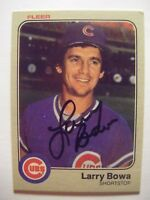LARRY BOWA signed CUBS 1983 Fleer baseball card AUTO Autographed 491 PHILLIES WS