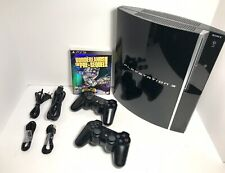 500GB PS3 PlayStation 3 Fat Bundle +2 Controllers & Game Choice+Warranty!