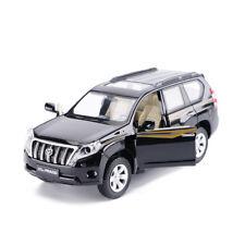 Toyota Land Cruiser Prado SUV 1/32 Diecast Model Car Toys Sound&Light Black Gift