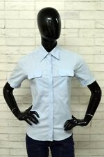 Camicia CARHARTT Donna Taglia L Maglia Chemise Woman Cotone Celeste PARI AL NUOV