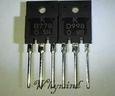 1 Pair 2SB778 & 2SD998 KTD998 / KTB778 B778 D998 TO-3PF Transistor New