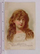 White Mountain Ice Cream Freezer Prices On Back T.R. Sadd Lovely Young Girl F56