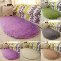 Mat Floor Rug Bedroom Rugs Carpet Anti-Skid Room Shaggy Fluffy Area Dining Home