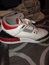 Air Jordan Retro 3 Fire Red Kids Size 7