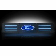 RECON 264121RFDBK Ford SUPERDUTY 99-15  Black Emblems Illuminated door sill