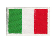 Ecusson patche brodé petit thermocollant drapeau Italie 45x30 mm
