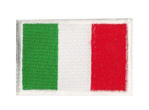 Ecusson patche petit thermocollant drapeau Italie 45x30 mm brodé