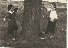 Beautiful teen girls play pioneer uniform Russian Soviet vtg photo