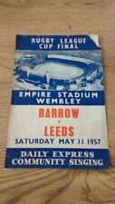 More details for barrow v leeds 1957 challenge cup final rugby league songsheet