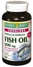 Nature's Bounty Fish Oil 1200 mg Omega-3 and Omega-6, 60 Odorless Softgels