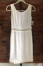 DOLCE & GABBANA little white dress! Bead Waist Shift IT 42/6 us $2800 wedding eu