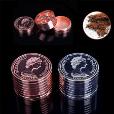 3 Layers Coin Metal Leaf Smoke Herbal Herb Grinder Spice Crusher Hand Muller