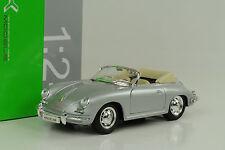 1958 356b PORSCHE 356 CABRIO CABRIOLET ARGENTO 1:24 Welly