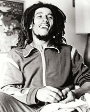 BOB MARLEY 11X14 PHOTO IN TRACK SUIT SMILING RARE SHOT