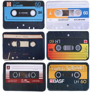 Home Vintage Nostalgia Tape Mat Anti Slip Floor Rug Door Cassettes Safe Pa|J_ZY