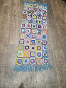 Stunning vintage granny runnet crochet blanket scarf