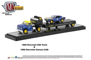 M2 Machines Auto Haulers 1968 Chevrolet C60 Truck & 1968 Chevrolet Camaro (NG29)