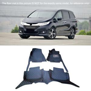 Customised Car Carpet Floor Mats Full Set For Honda Odyssey 7 Seater 2015-2018