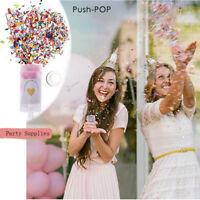 Plastic Heart Push Up & Mixed Confetti Cake Lids Shooters Party Decor Tools~