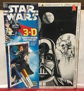 Star Wars 1978 Poster Art Craft Master 3D Darth Vader Vintage Dead stock US made