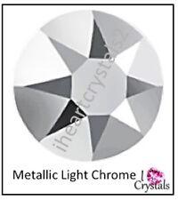 METALLIC LIGHT CHROME 144 pieces 12ss 3mm Swarovski Crystal Flatback Rhinestones