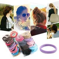50 Stücke Frauen Mädchen Haarband Krawatten Elastisches Seil Ring Haarband