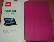 Tablet Case for LG G Pad 10.1 LTE, Pink with gray interior, new in retail pkg.