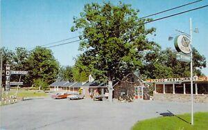 VA Gordonsville INWOOD MOTEL RESTAURANT Ice Cream Coca Cola sign1959-64 postcard