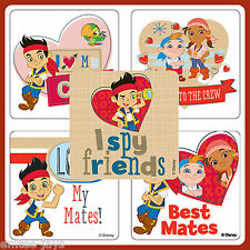 Jake and the Neverland Pirates Stickers x 5 - Favours Heart Birthday Party Loot