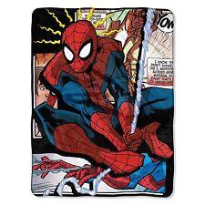 "Marvel Comics Spider Man Origins Micro Super Plush Soft Throw Blanket 46""x60''"