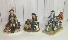 Vintage Lot of Norman Rockwell figurines back from camp a good turn bicycle boys
