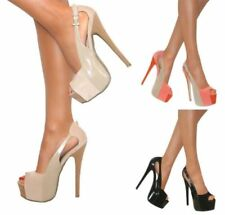 Patternless Peep Toes Synthetic Casual Heels for Women