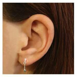925 Sterling Silver Cube Drop Earrings Small