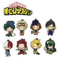 T972 Anime Boku no Hero Academia rubber Keychain Key Ring Straps Rare cosplay