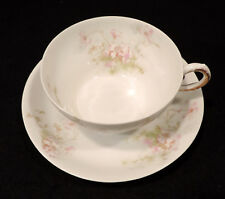 Theodore Haviland Limoges cup saucer pink flowers France