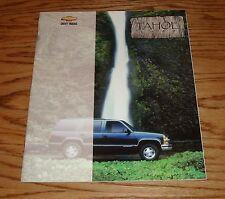 Original 1999 Chevrolet Truck Tahoe Sales Brochure 99 Chevy 7/98