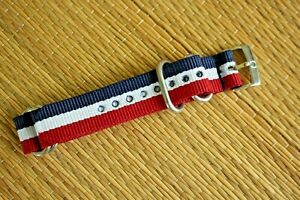 18MM NYLON RACER DIVER YACHT AVIATOR SILVER BUCKLE WATCH BAND STRAP FOR OMEGA 01