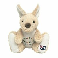 G'DAY KANGAROO W/CAIRNS EMBROIDERY STUFFED ANIMAL PLUSH TOY 22cm *FREE DELIVERY*