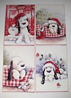 12 x Cute A6 Christmas Card Making Toppers.
