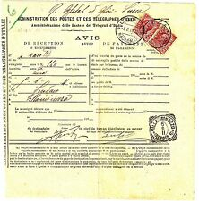 Z20224-EMILIA ROMAGNA, VILLA MINOZZO-LUCCA,  RICEVUTA DI RITORNO, 1911
