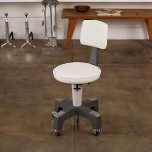 Adjustable Stool with Leather Seat by American Optical